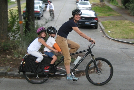 family on the new xtracycle