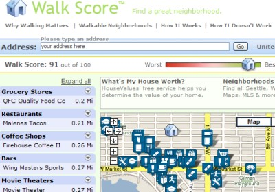 walkscore, inspired by sightline inst.