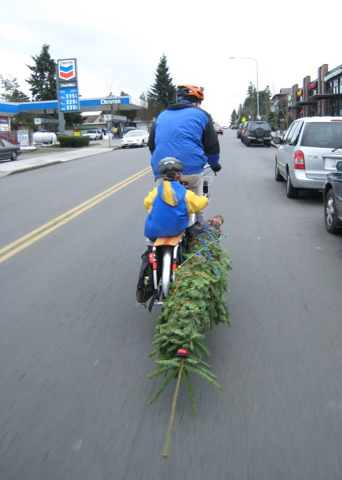 Gas prices don't matter when your tree is on your bike