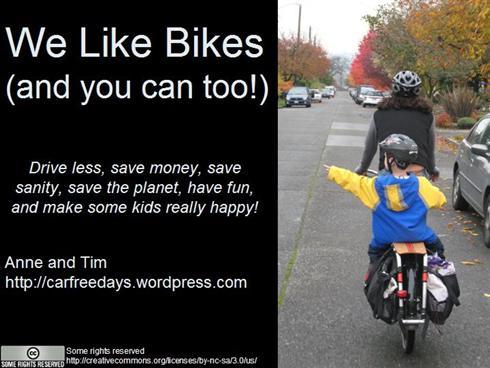 """Title slide for """"we like bikes""""presentation"""