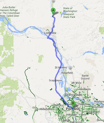 Castle Rock to Portland