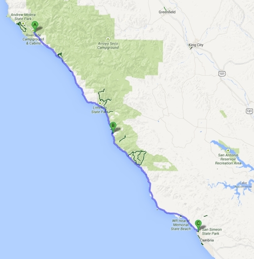 big sur to san simeon