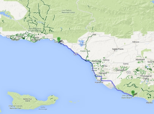 Carpinteria to Leo Carrillo