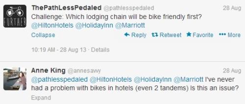 hotel chain tweet