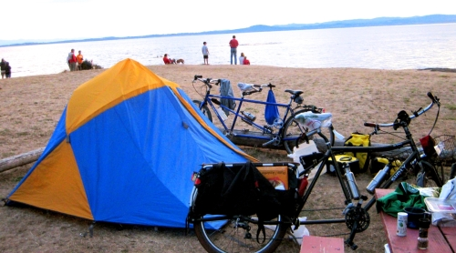 Walk-in (ride in) campsite at San Juan County Park