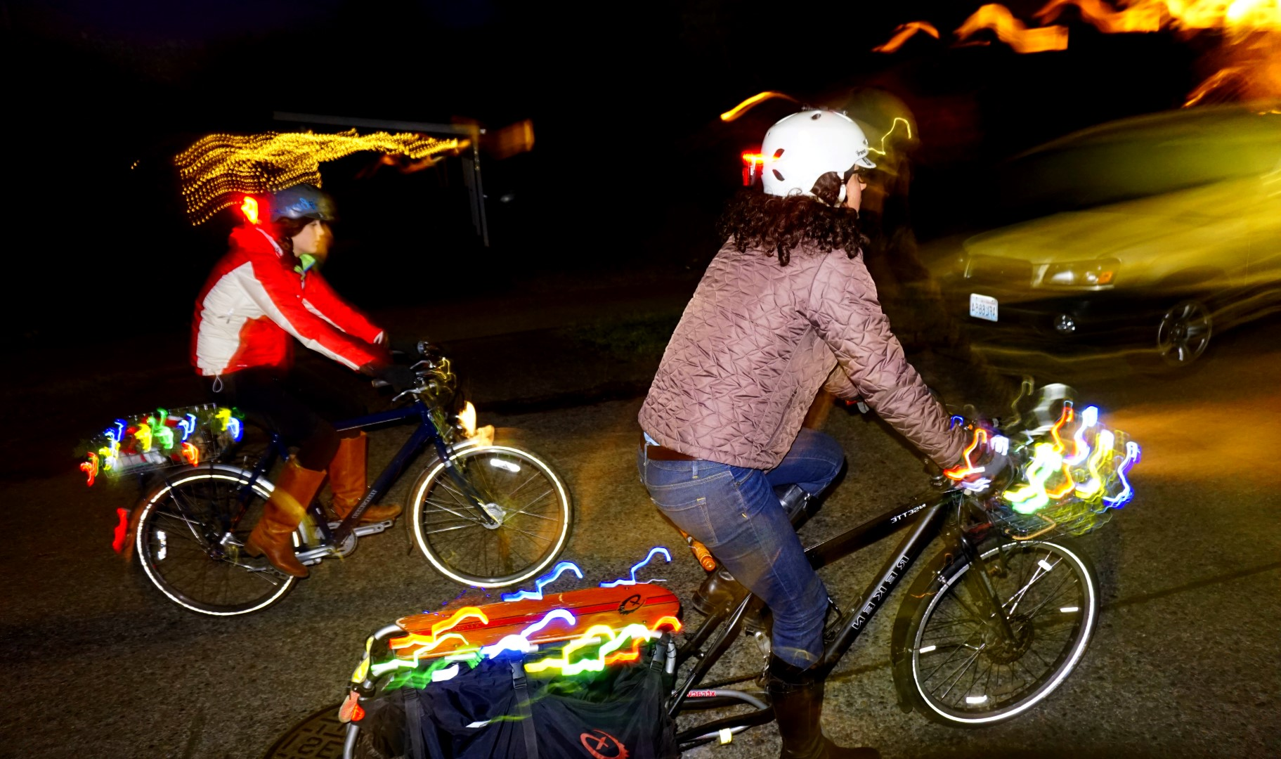 Light Up Your Bike With Battery Powered Holiday Lights Car Free Days