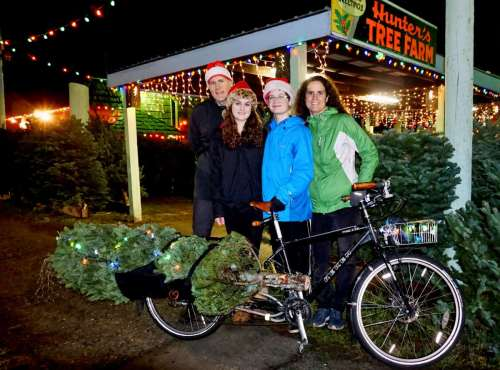 Family Christmas Tree Xtracycle 2015